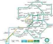 """Greenground: una mappa dei parchi di Londra in stile """"Tube"""""""