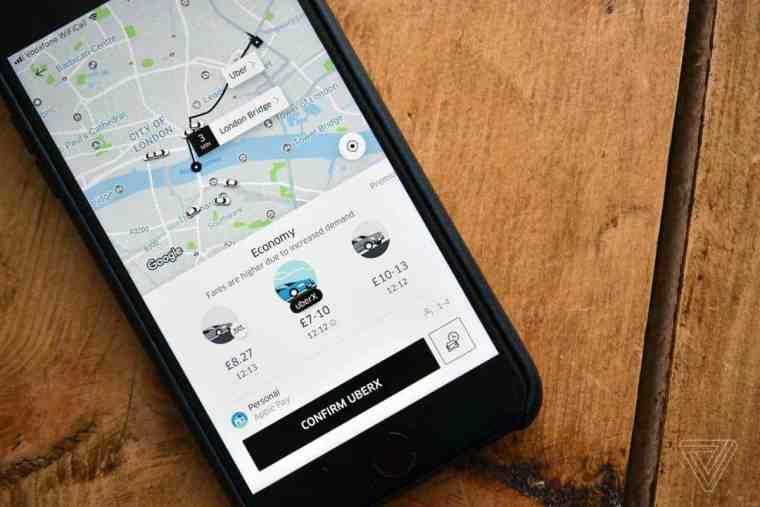 spostarsi a londra con uber