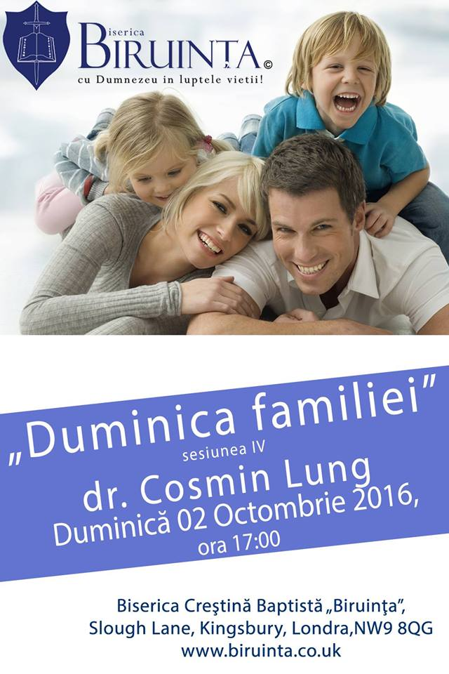 Duminica Familiei ~ dr. Cosmin Lung