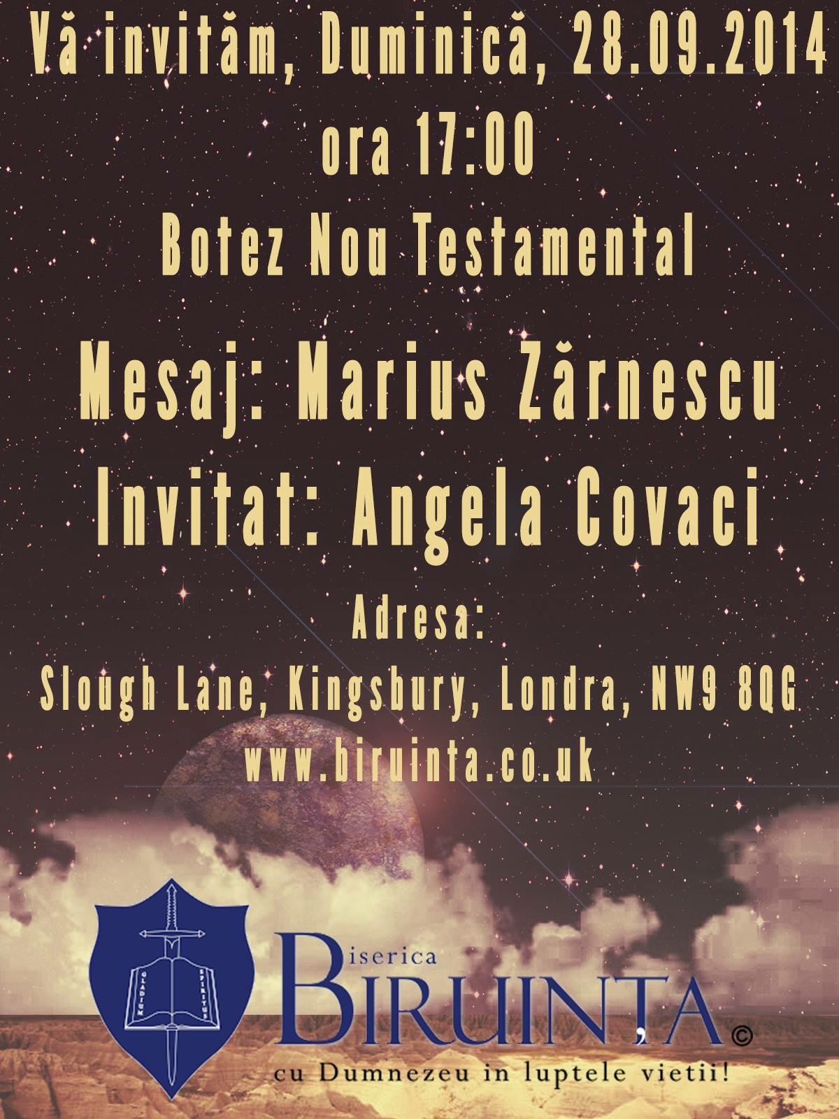 Botez Nou Testamental – Biruinta / Londra
