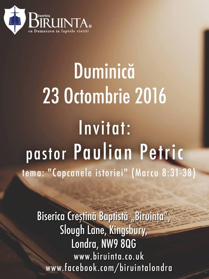 Paulian Petric la Biruinta – Londra