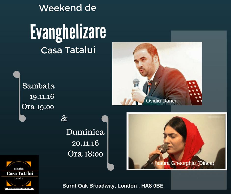 Weekend de Evanghelizare – Casa Tatalui /Londra