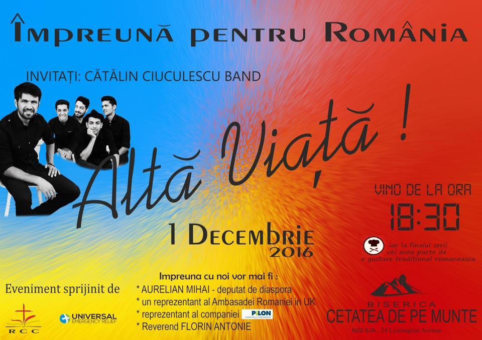 Impreuna pentru Romania – de Ziua Nationala!