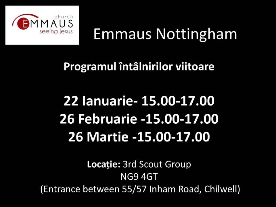Programul intalnirilor Emmaus / Nottingham