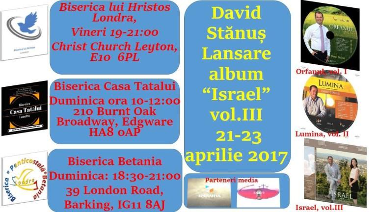 David Stanus – Lansare album