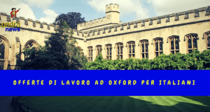 Offerte di lavoro ad Oxford per italiani