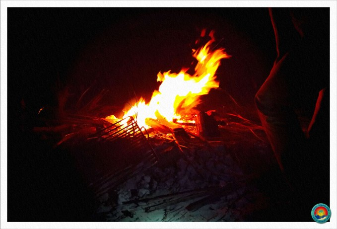 Lagerfeuer im Basecamp