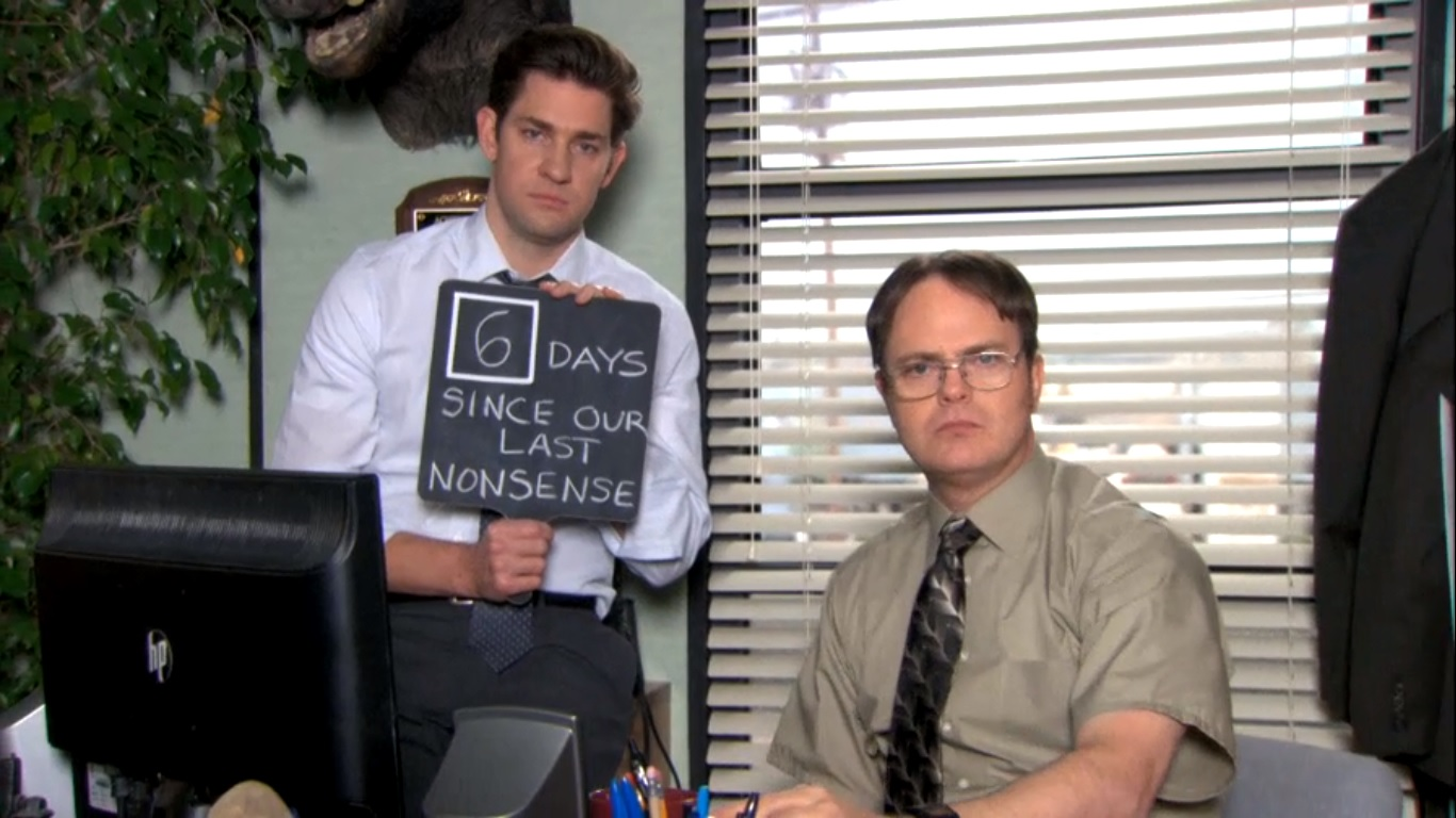 Image result for the office jim and dwight quotes