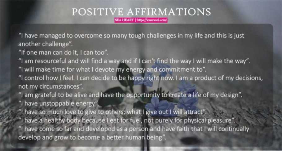 Positive Affirmations - incantation