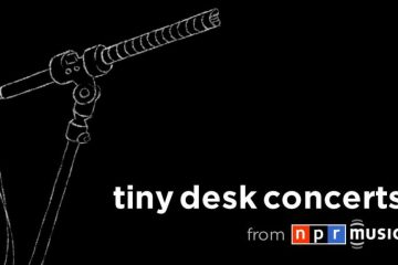 NPR Tiny Desk Concerts logo, white text on black background