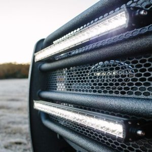 Close Up of 2015 F-250 Super Fleet Grille Guard