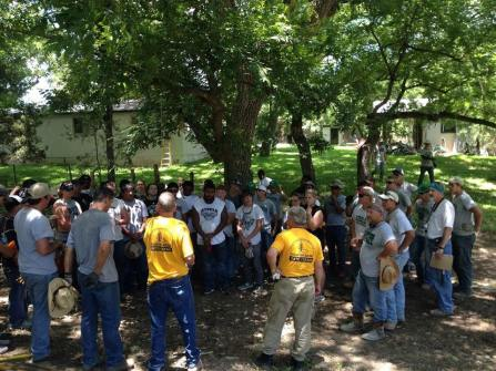 Steele Knights and Clifton Cubs helping cleanup in Wimberley