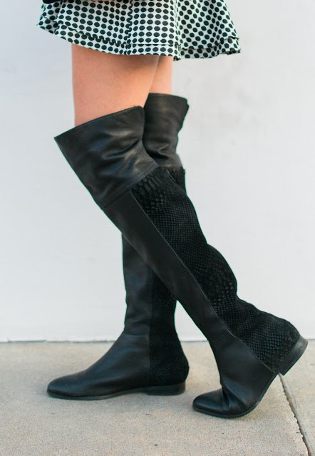 seychelles over the knee boots, anthropologie over the knee boots, black over the knee boots, leather and snakeskin over the knee boots, over the knee boots less than $200, otk boots, style blogger, lone star looking glass