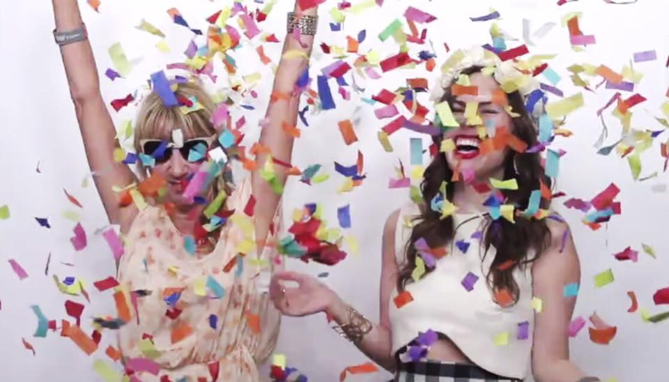 fashion x houston cadillac event, style driven hou, confetti photo booth