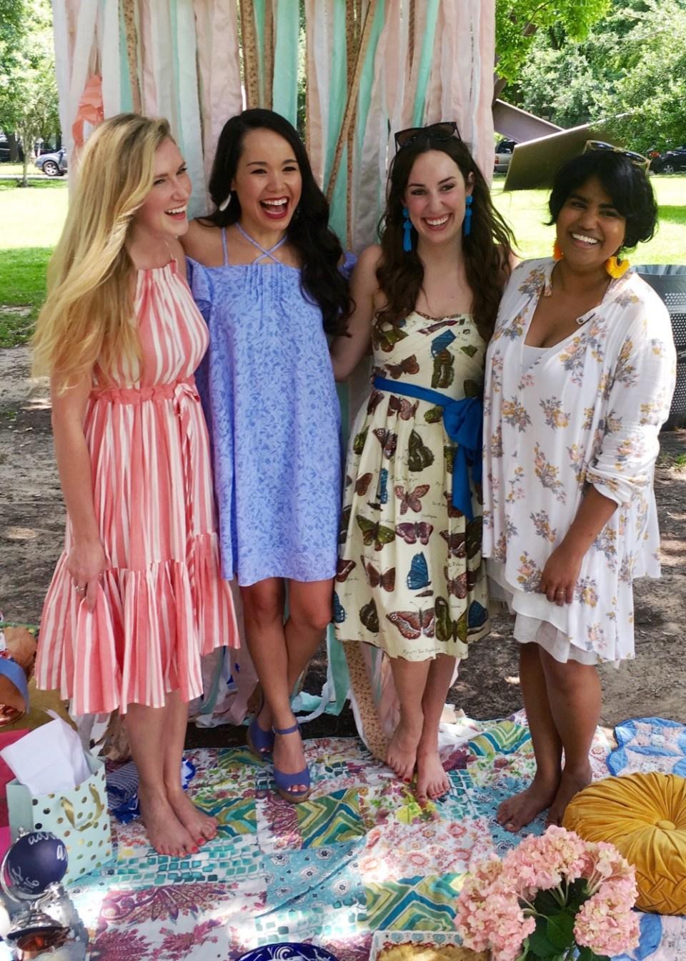 anthropologie butterfly dress, anthropologie picnic, picnic bridal shower, menil park picnic bridal shower