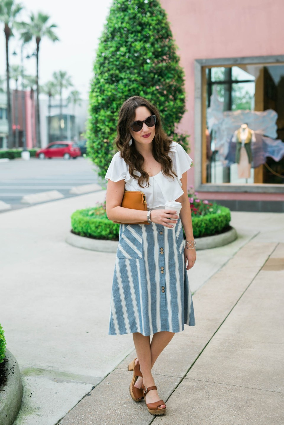 Striped_Midi_Skirt_Off_the_Shoulder_Top1