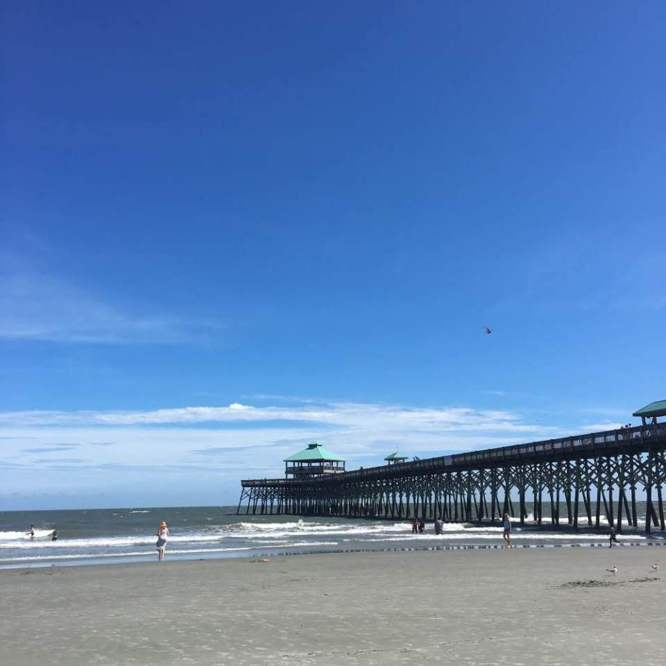 Folly Beach Pier in South Carolina