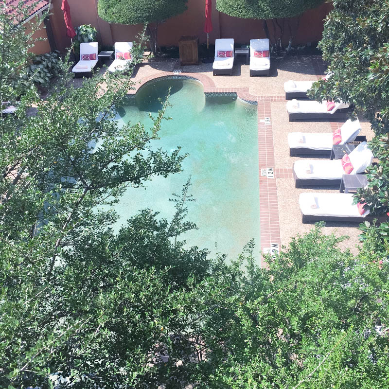 The Rosewood Mansion Hotel Pool in Dallas, TX.