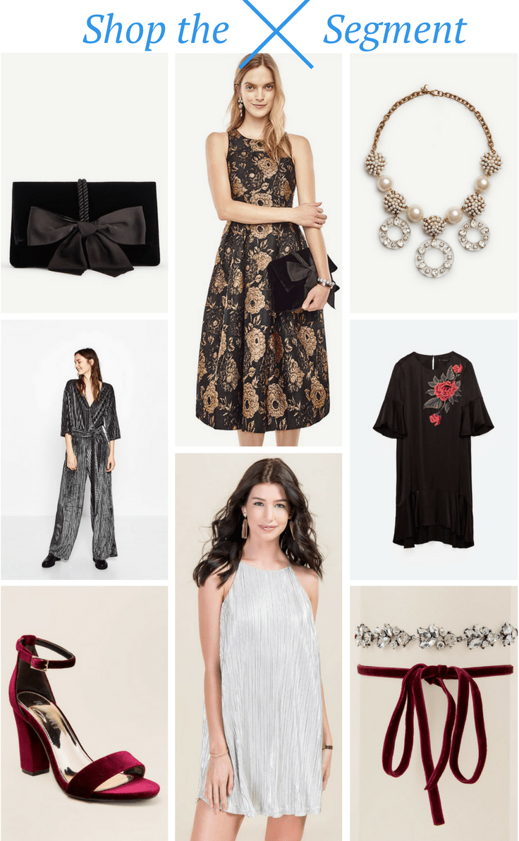holiday outfit inspiration with ann taylor, zara, and francescas.