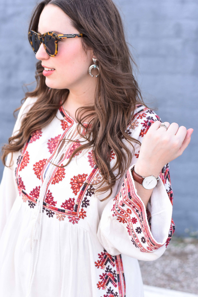 Houston fashion blogger styles Free People's Starlight Mini Dress