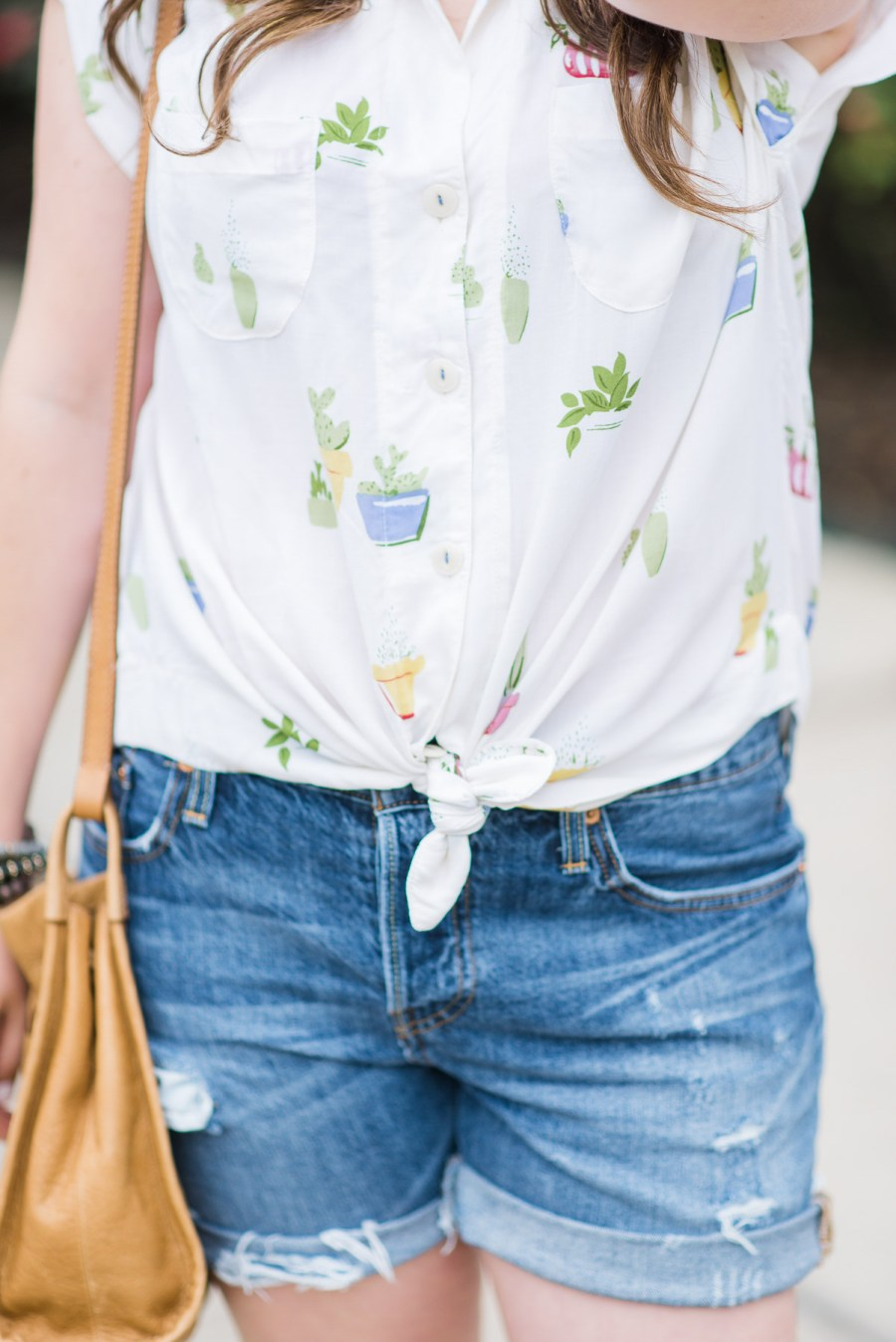 Anthropologie Raffine Cactus Buttondown