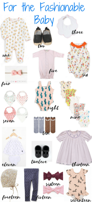 Cute baby girl outfits and accessories