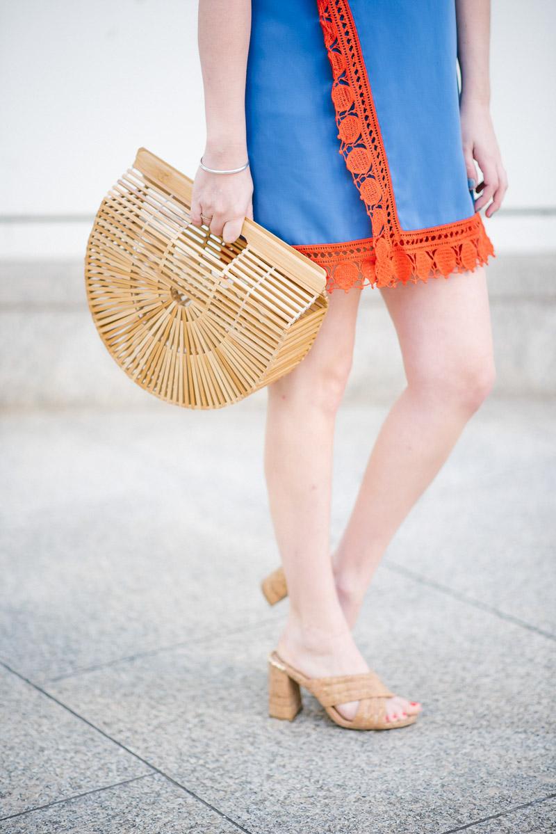 Cult Gaia Bamboo Bag and Elaine Turner Cork Heels