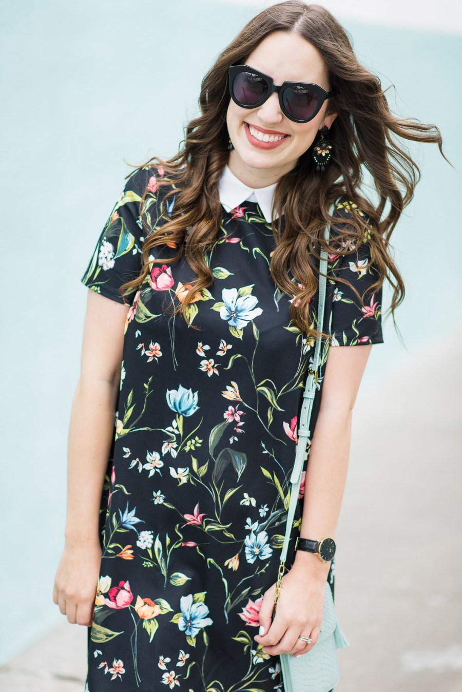 Floral_Shirt_Dress_Adidas_Sneakers-4