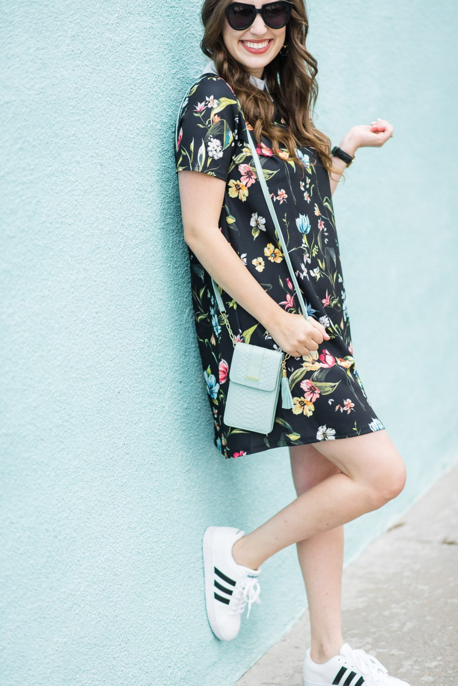 Floral_Shirt_Dress_Adidas_Sneakers-6