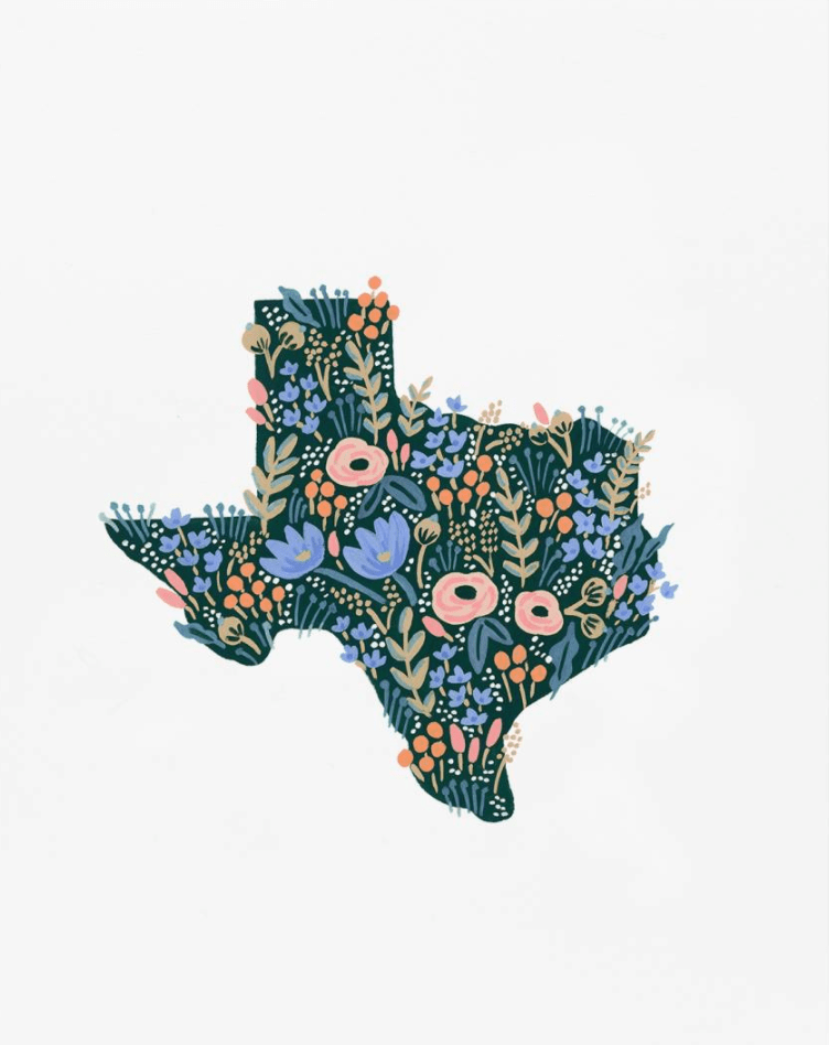 rifle paper co texas flowers