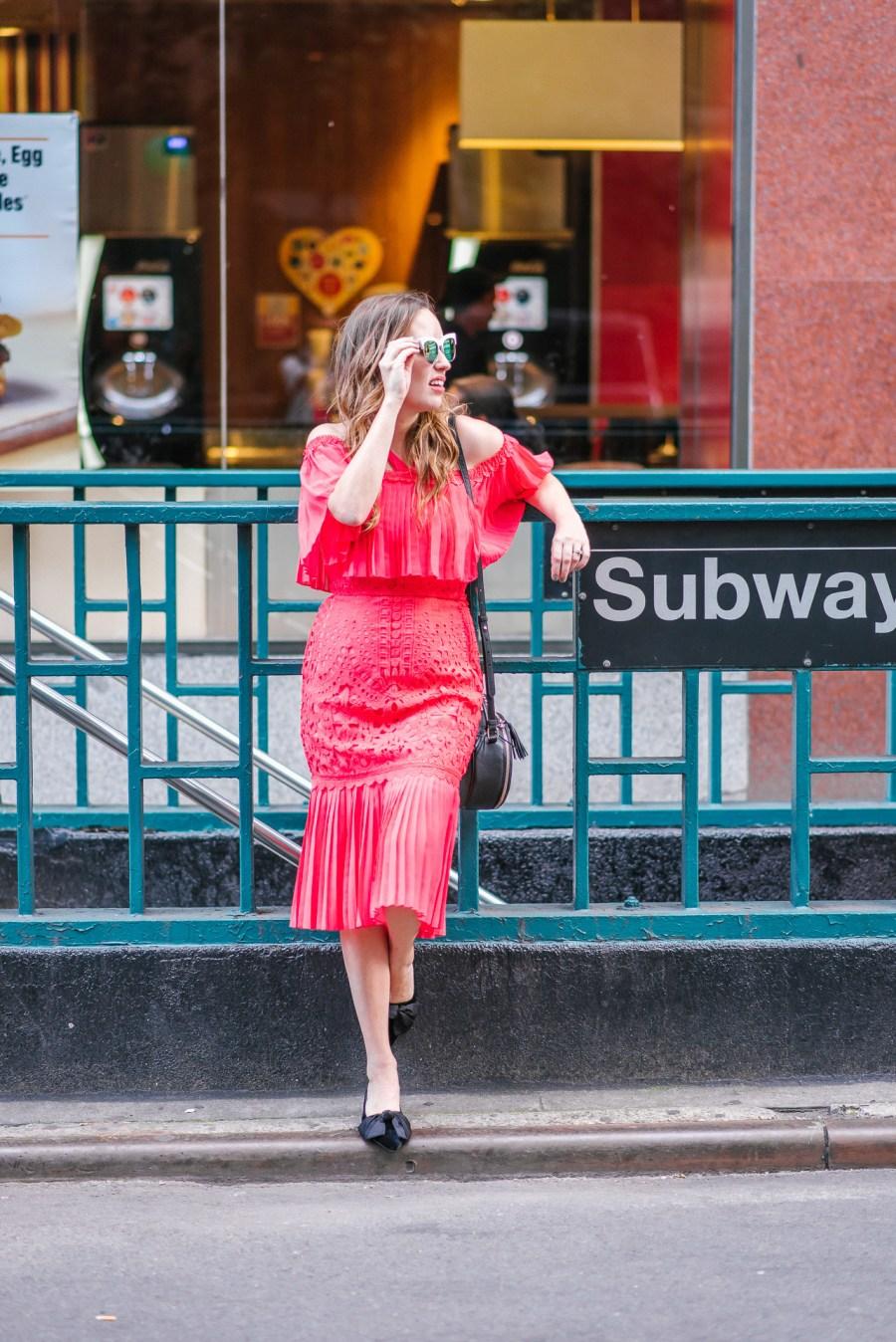 New York Fashion Week - Red Dress Street Style Inspiration