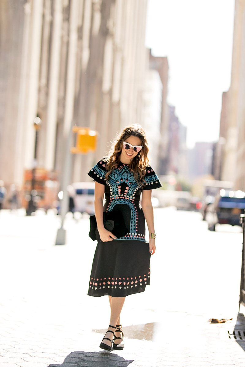 Black embroidered Temperley London Dress