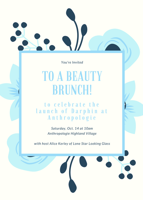 Anthropologie Darphin Blogger Brunch in Houston, Texas