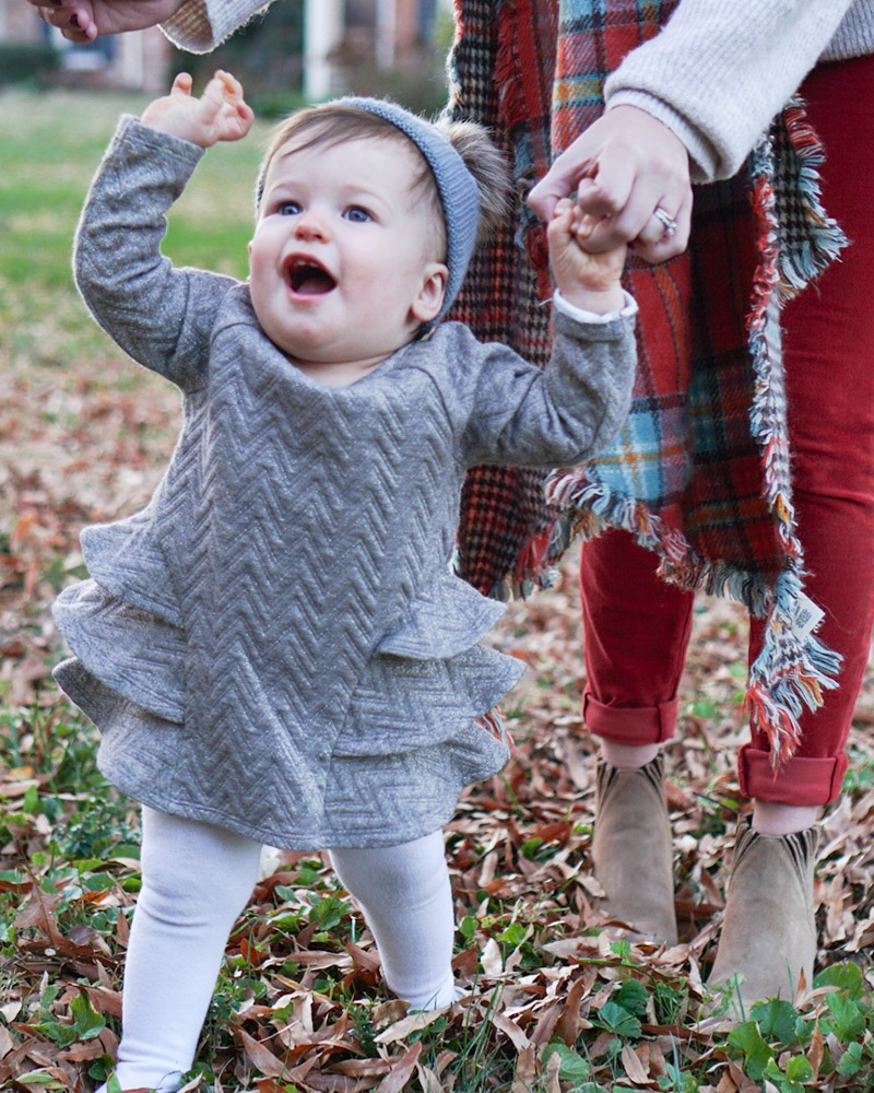 Thanksgiving Baby Girl Outfit Ideas - Target Gray Toddler Sweater Dress