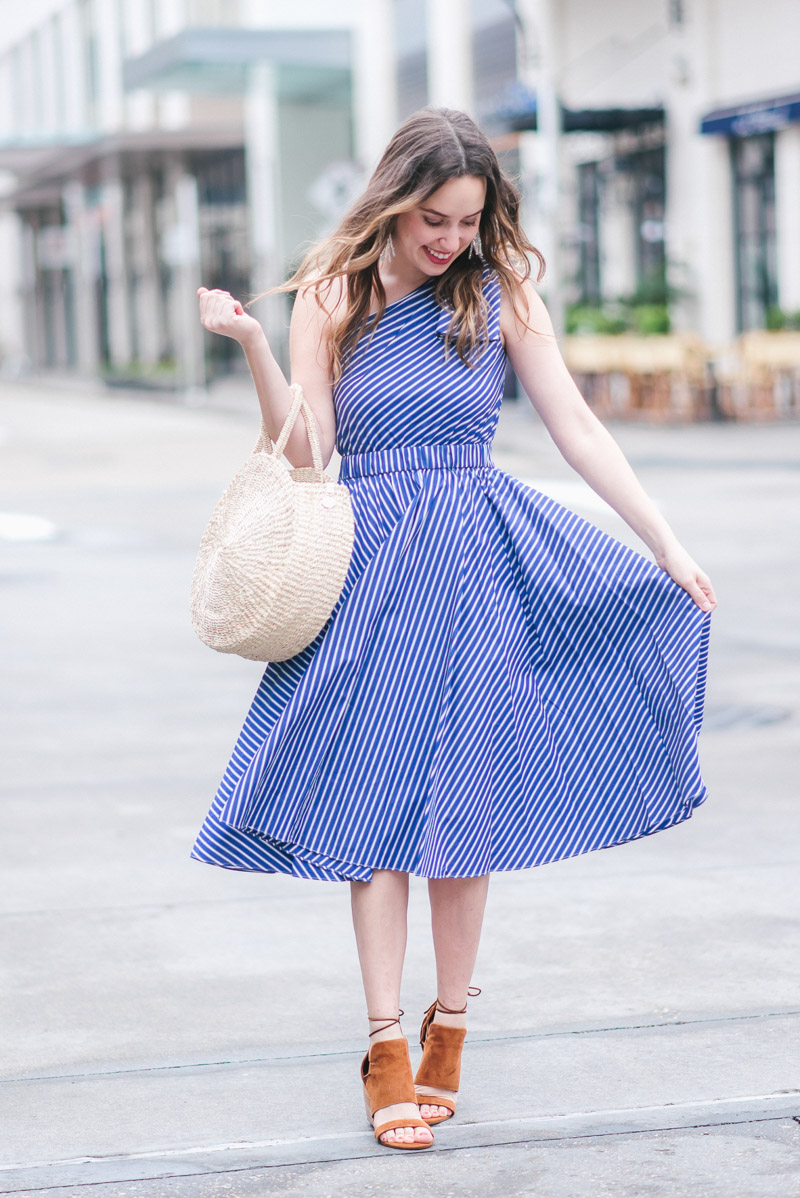 Blue Striped Spring Dresses to Swoon Over