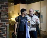 Rodney Dickson with Jonatan Lopez at DiverseWorks courtesy Alex Barber