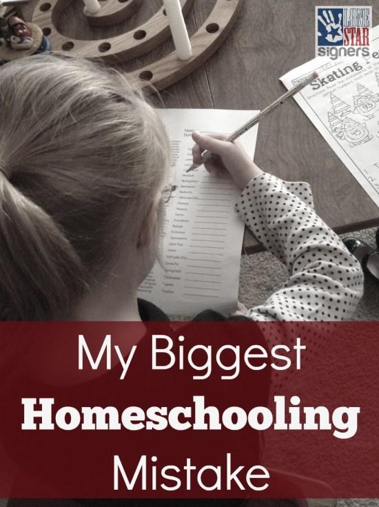 My Biggest Homeschooling Mistake