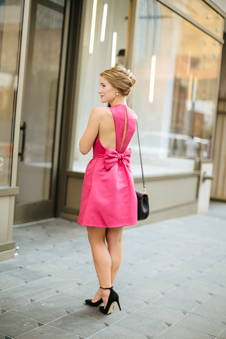 kate spade, leading lady, star of your own show, pink bow dress