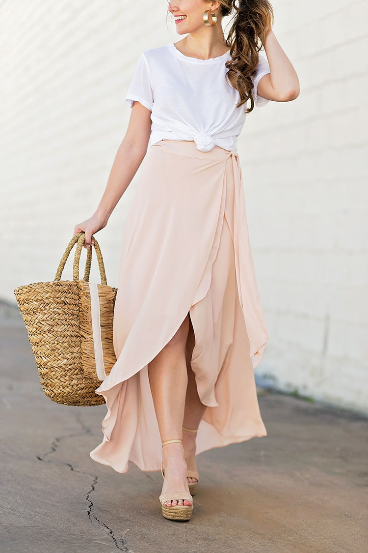 Blush Maxi Skirt A Lonestar State Of Southern