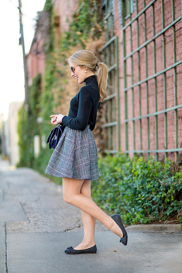 fall plaid skirt
