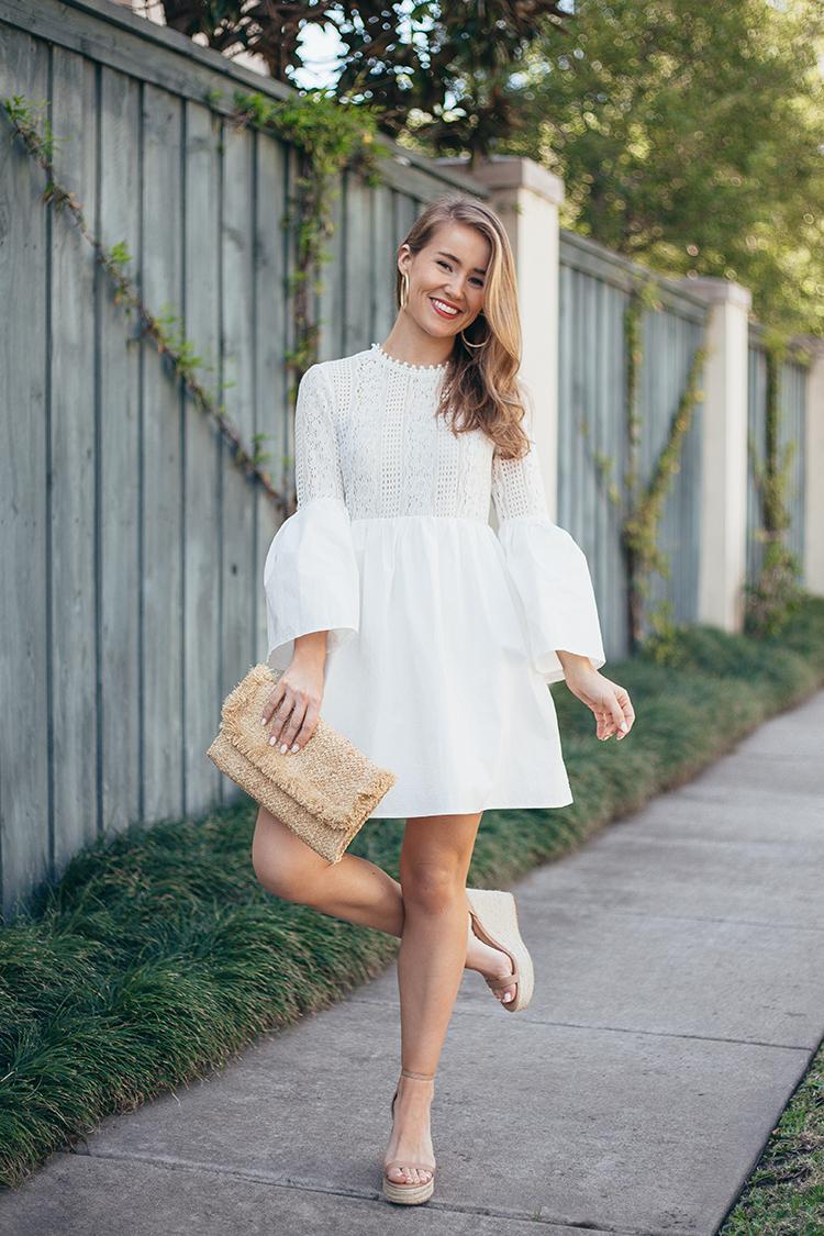endless rose bell sleeve dress
