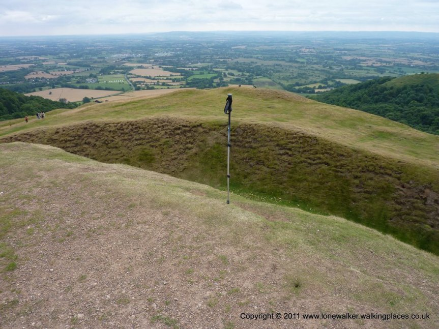 The top of Herefordshire Beacon