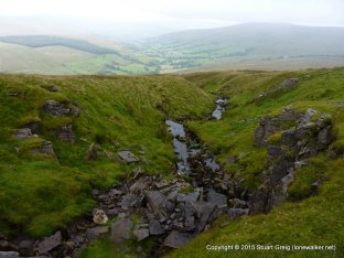 Looking down into Dentdale