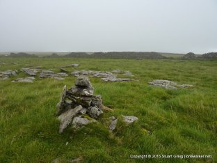 Summit cairn on Wold Fell