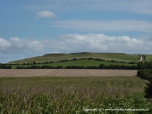Approaching Uffington Castle (hill fort) and it's famous white horse