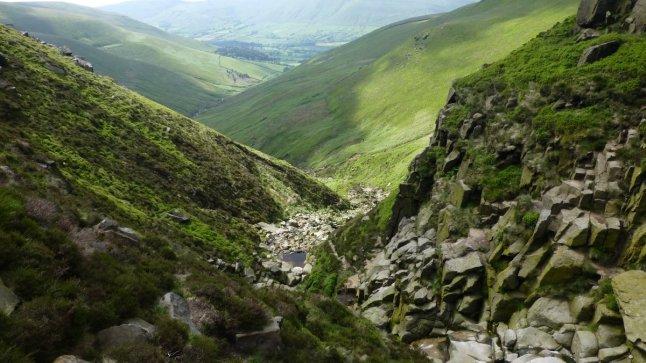 Descending into Crowden Clough