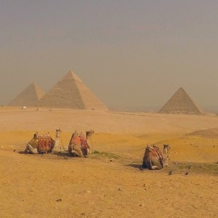 The Great Pyramids of Giza, Cairo, Egypt