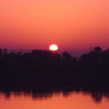 Sunrise on the Nile, Edfu, Egypt