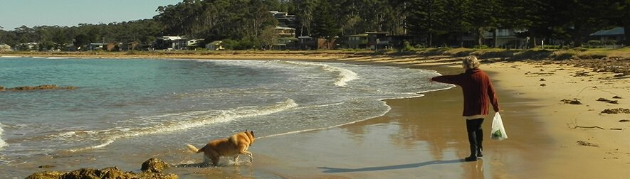 Dog friendly Maloneys Beach, Long Beach and the craggy coves in between