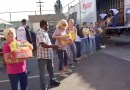 Largest donation of the year at the Long Beach Rescue Mission by Never Forgotten Foundation
